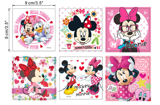 6 Stks Mickey Mouse Minnie Mouse Schakelpaneel Stickers Home Decor