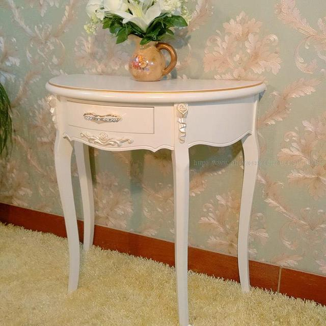 factory outlets european style entrance station half round table side table console tables specials half desk