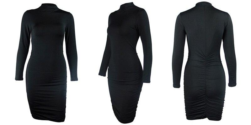 turtleneck ruched dress04