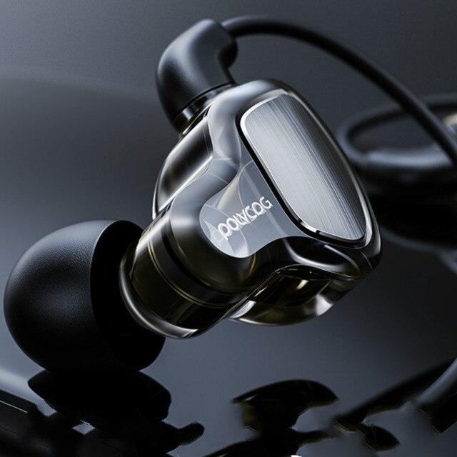 หูฟังหูฟัง Hifi สเตอริโอเบสหูฟังไมโครโฟนชุดหูฟัง Hybrid Driver สำหรับวิ่งจ๊อกกิ้งเดิน