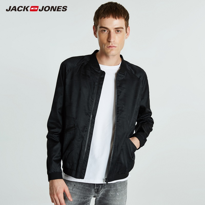 Jack & Jones hommes printemps Baseball col Plaid veste C | 218321517