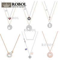 a47dcf168e9 ROBOL High Quality Swa Original Necklaces Pendants Jewelry Making For Women  Wholesale Brand 1 1 Production