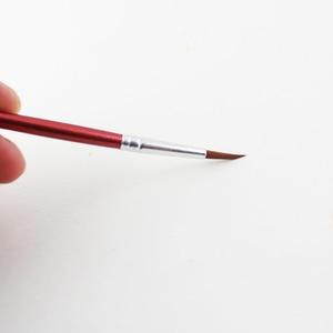 Image 3 - Memory 20Pcs Short Handle Artist Paint Brush Set Round Shape Nylon Hair Hook line Brush Set for Oil Watercolor Acrylic