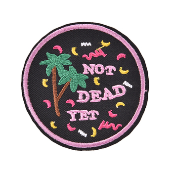 New Do Nothing Forever Iron On Embroidered Clothes Patch For Clothing Stickers Garment Apparel Accessories image