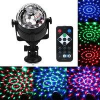 Голос Управление USB RGB LED этап Лампы для мотоциклов 5 В кристалл магический шар звуковой Управление лазер сценический эффект света партия Дис...