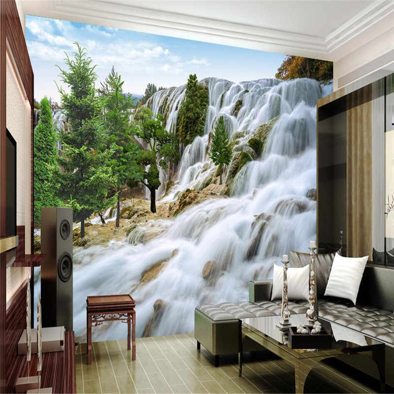 Beibehang Scale Custom Aesthetic Painting Rocky Mountain Waterfall