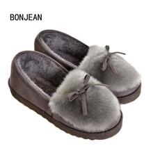 Зимние теплые женские домашние тапочки теплая домашняя обувь из плюша для беременных женщин
