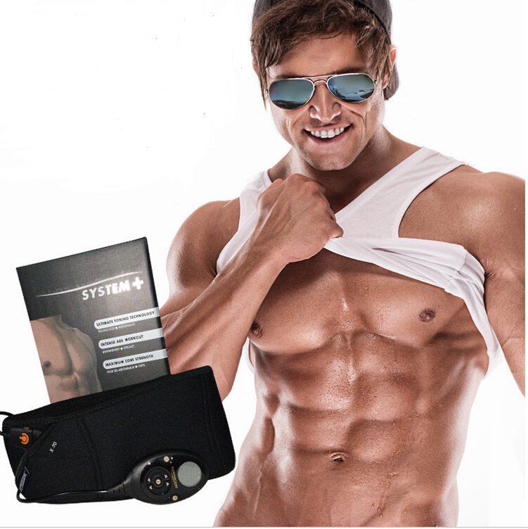 EMS Muscle stimulator Smart slimming massage belt Abs Abdominal Muscle Toner Core Abs Workout Belt EMS abdominal muscles все цены