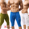 Tight ice silk soft material Men home leisure Bicycle casual Men's knee-length pants CZ901