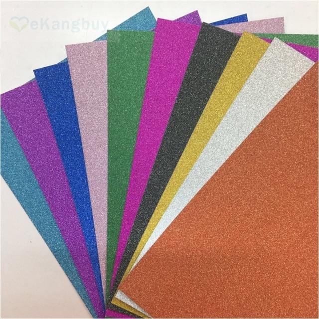 20 Feuilles A4 Coloré Auto Adhésif Papier Scintillant Bricolage
