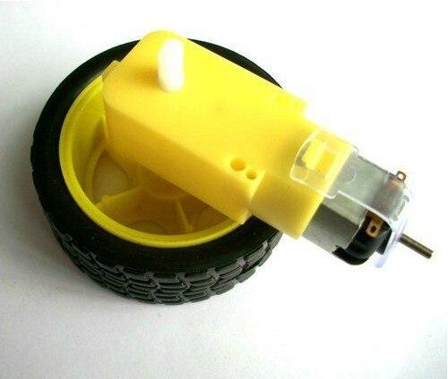 Freeshipping 5set/lot Deceleration DC motor + supporting wheels