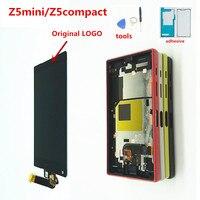 Originele 4.6 ''Lcd Voor Sony Xperia Z5 Compact Lcd Display Z5 Mini E5823 E5803 Touch Screen Digitizer Vervangende Onderdelen-in LCD's voor mobiele telefoons van Mobiele telefoons & telecommunicatie op