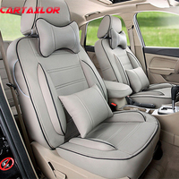 Classic Seat Covers For Land Rover Discovery 4 Pu Leather Car Seat Cover Set Car Interior