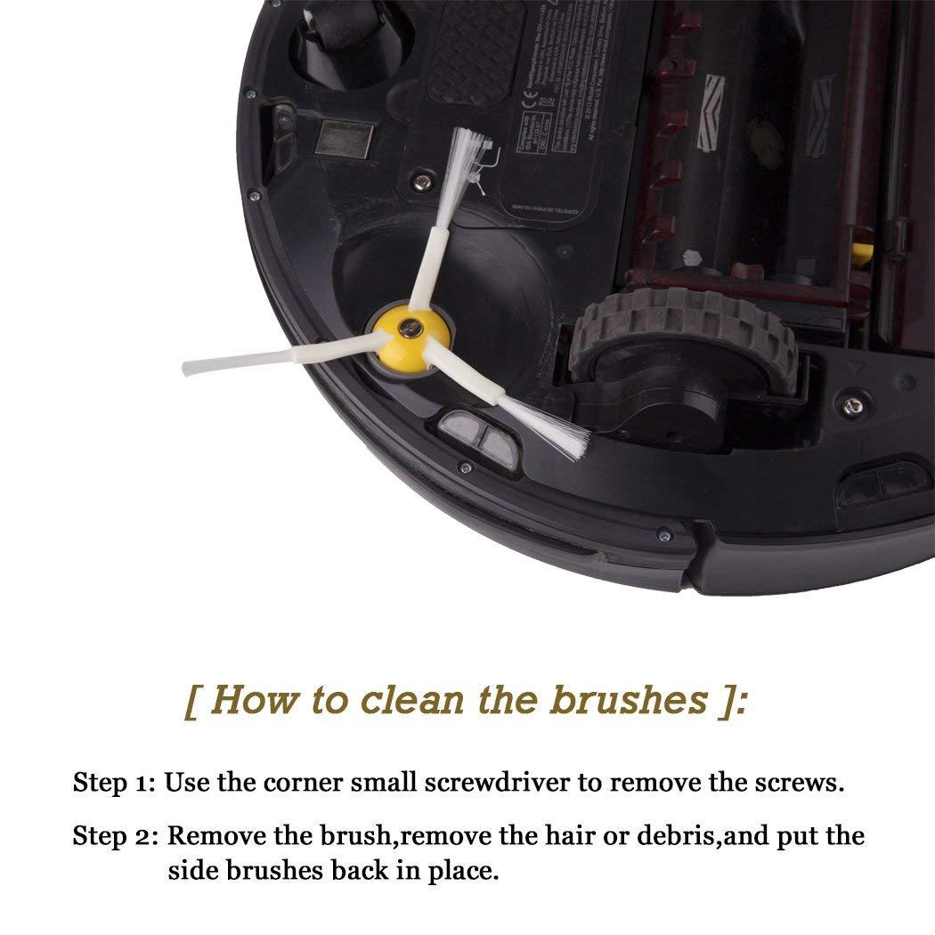 3 шт. 980 Hepa фильтры совместимый для iRobot Roomba 980 860 880 870 робот пылесосы автомобиля и Roomba сбоку расчёски волос (800 90