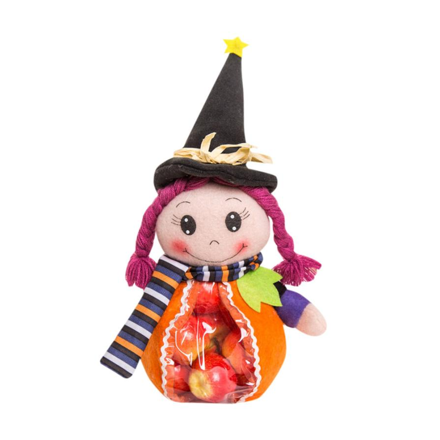 1pcs halloween cute witches candy bag gift cute color multi function cosmetic bag wholesales beauty - Cute Halloween Witches