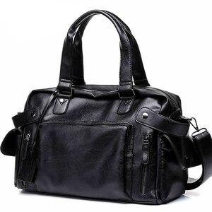 Image 1 - DCOS High Quality Men Travel Bag leisure Male Handbag Vintage Shoulder Bag Men Messenger Duffel Tote Bag