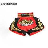 2017 Muay Thai Muay Thai Shorts XXL Impresión Pantalonetas Hombres Deportes pantalones Rojos Tomar Lucha de Boxeo MMA Muay Thai Boxing Pantalones Cortos Tronco