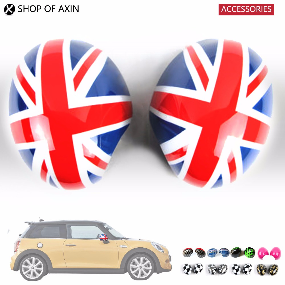 цена на Mini Outside Rearview Side mirror Decoration and protection Cover For Mini Cooper s Hatchback F55 F56