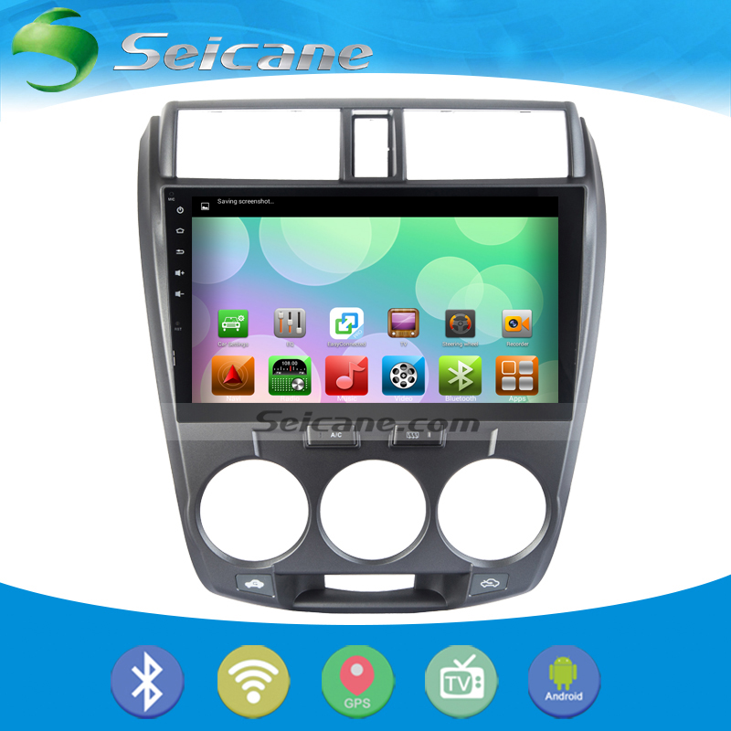 Seicane 2 din Android 5.0.1 GPS Navigation for 2008-2012 Honda CITY car radio with Steering-wheel Touch Screen 4G WIFI Bluetooth