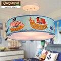 Qiseyuncai средиземноморская личность детская комната Пиратская светодиодная люстра современная креативная теплая лампа для мальчика бесплат...