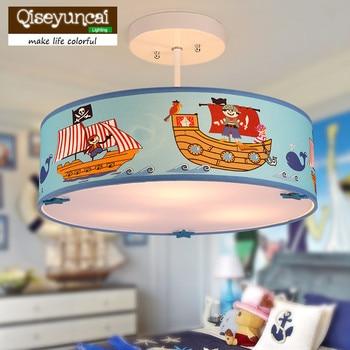 Qiseyuncai Mediterranean Personality Children's Room Pirate Led Chandelier Modern Creative Boy Warm Room Lamp Free Shipping