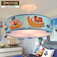Qiseyuncai mediterrâneo personalidade quarto das crianças pirata led lustre moderno criativo menino quente quarto lâmpada frete grátis|Luzes de pendentes| |  -