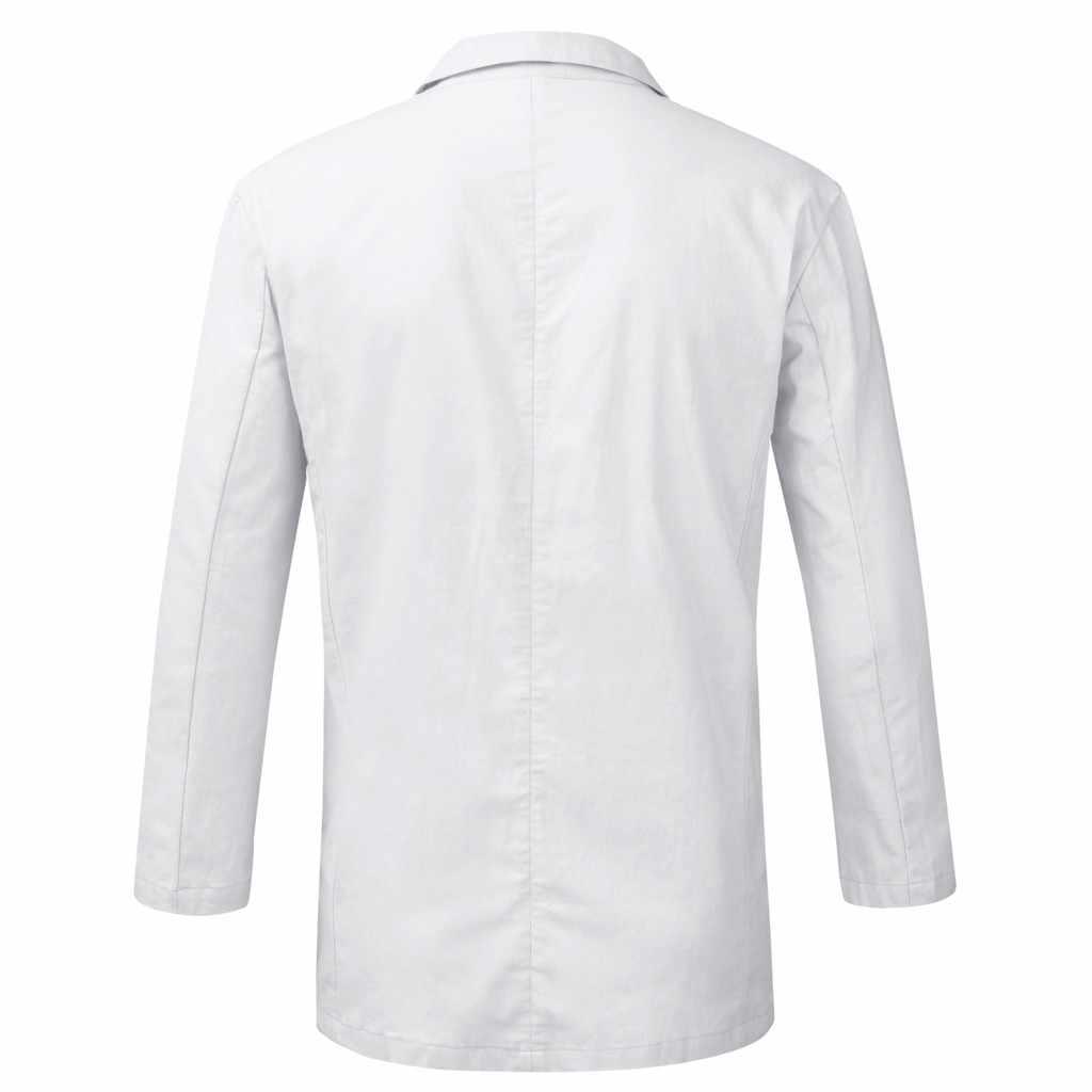 ブレザー男性のスーツスリムフィットリネンブレンドポケット固体長袖スーツジャケット生き抜く男性ビジネス服ブレザー masculino 2019