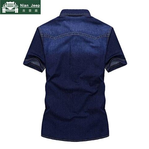 2018 Brand Clothing Men Shirt Camisa Masculina Plus Size 4XL Jeans Shirt Mens Shirts Summer Short Sleeves Cago Shirt homme Islamabad