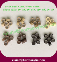 1000pcs Bag 8000pcs Lot 4 5mm Mix Color Silicone Lined Micro Rings For Hair Extensions