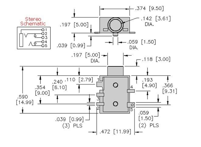 5 pin 3 5mm audio jack wiring diagram