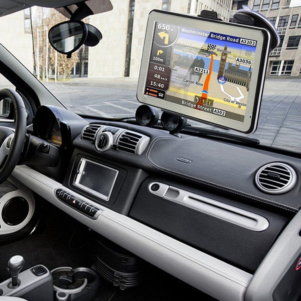 Resistive Touch Screen GPS Navigator Portable High Definition GPS Navigation For Car Truck 4.3 Inch 8GB ROM+256M RAM free shipping new black 4 3 inch hd touch screen rearview mirror abs car gps navigation navigator bluetooth 2 0 8gb au map tk102