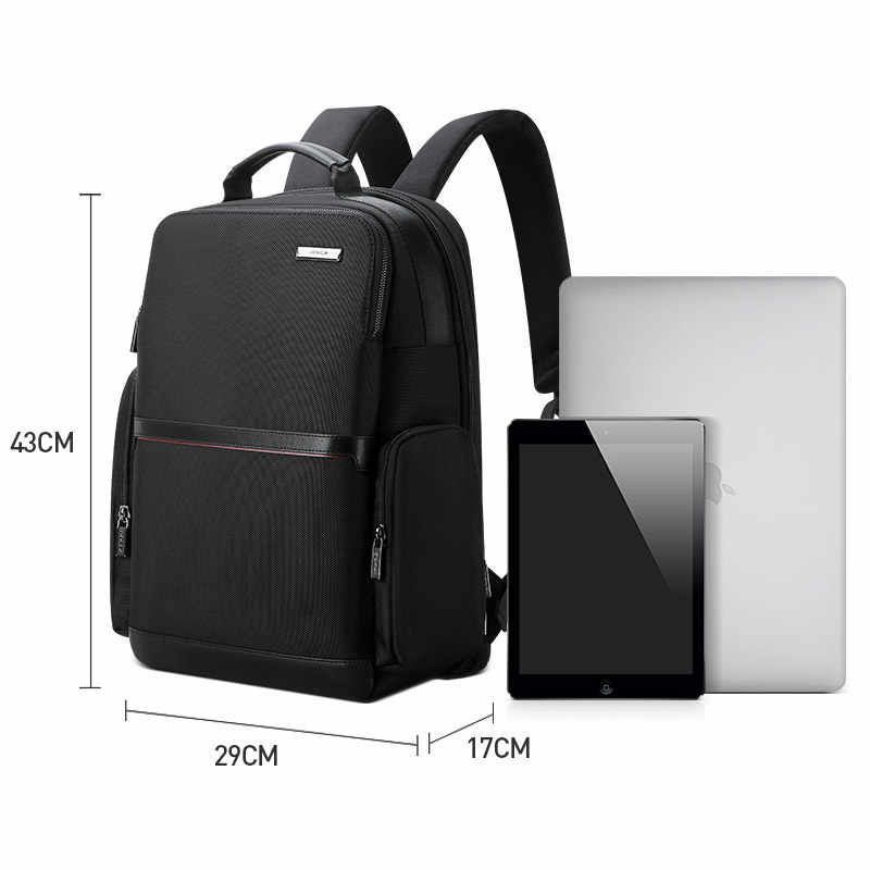 BOPAI 2019 أسود كمبيوتر محمول للأعمال على ظهره USB شحن حقيبة مدرسية عالية النايلون حقيبة المدرسة طارد المياه الظهر حزمة الرجال zaino