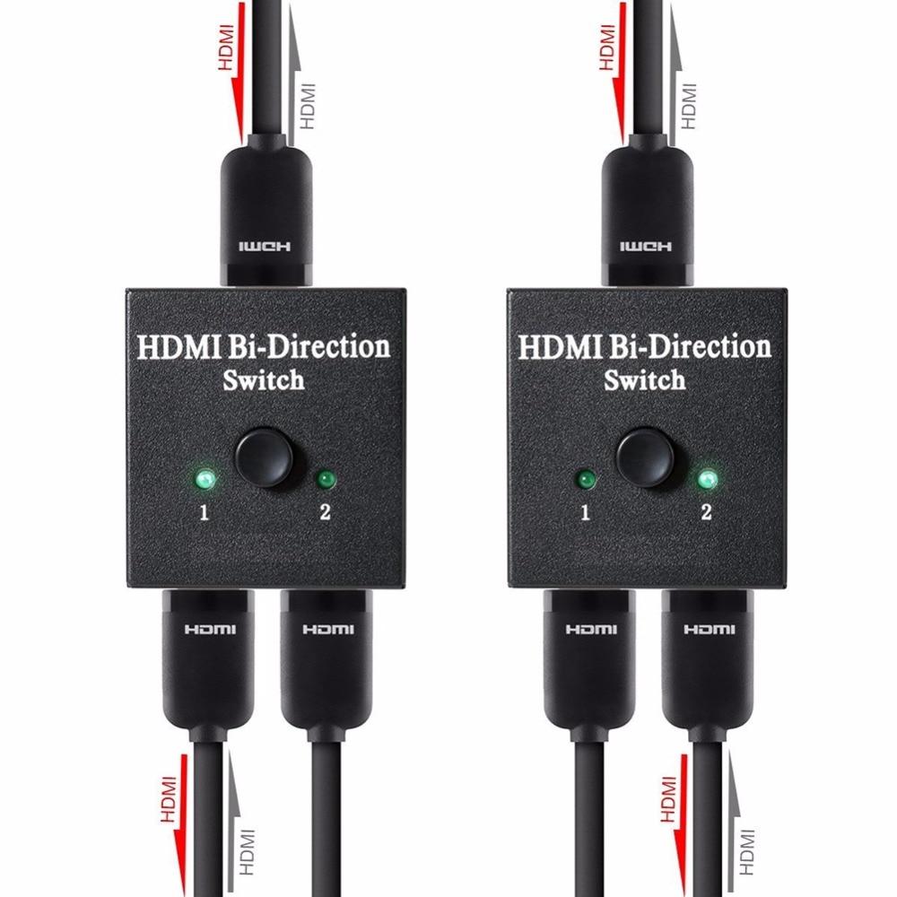 Full HD 1080 P 3D Video HDMI Schalter-rangierlok Ultra HD 4 Karat UHD HDMI Splitter HDTV 1X2 2X1 Split 1 in 2 Verstärker Dual Display