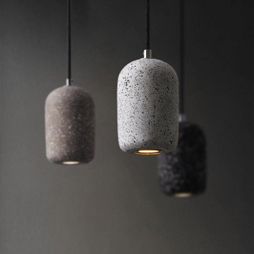 Modern Industrial Wind LED Pendant Lights Nordic Loft Cement Decor Pendant Lamps Restaurant Cafe Bar Home Hanging Lamp Lighting
