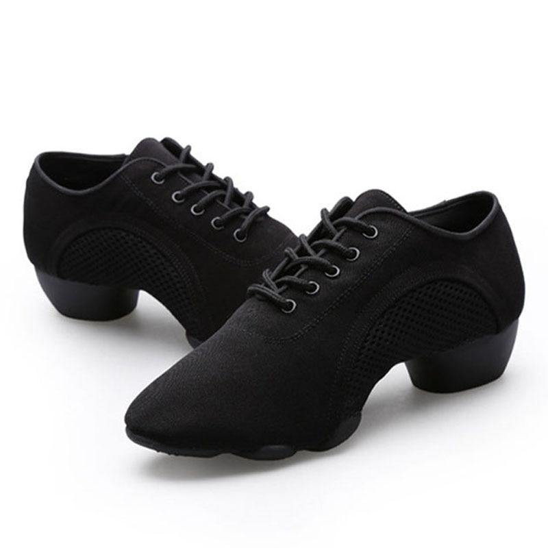 Neutral Oxford Cloth Shoes Latin Teacher Dance Shoes Man Performance Sports Shoes Dance Teacher Sneaker Fitness Comfortable Male teacher performance