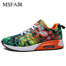 Msfair Men Running Shoes For Women Air Cushion Sport Shoes Women Sport Shoes For Men Comfortably breathable men sneakers Women