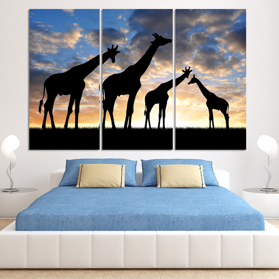 Online get cheap giraffe wall art for Cheap wall decor