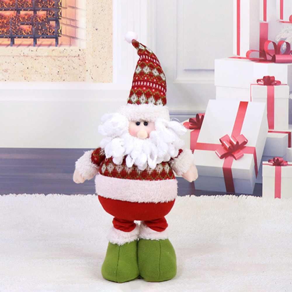 Papai Noel SnowmanPlush Animais Decorações de Natal Dolls Para Presente da Festa de Aniversário Casa de Pé Retrátil Toy Kids #254255
