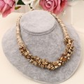 2016 Jewelry Wholesale Rope Chain Necklace 100% Nature Stone Beads Choker Necklaces For Women Vintage Collar Statment Necklace