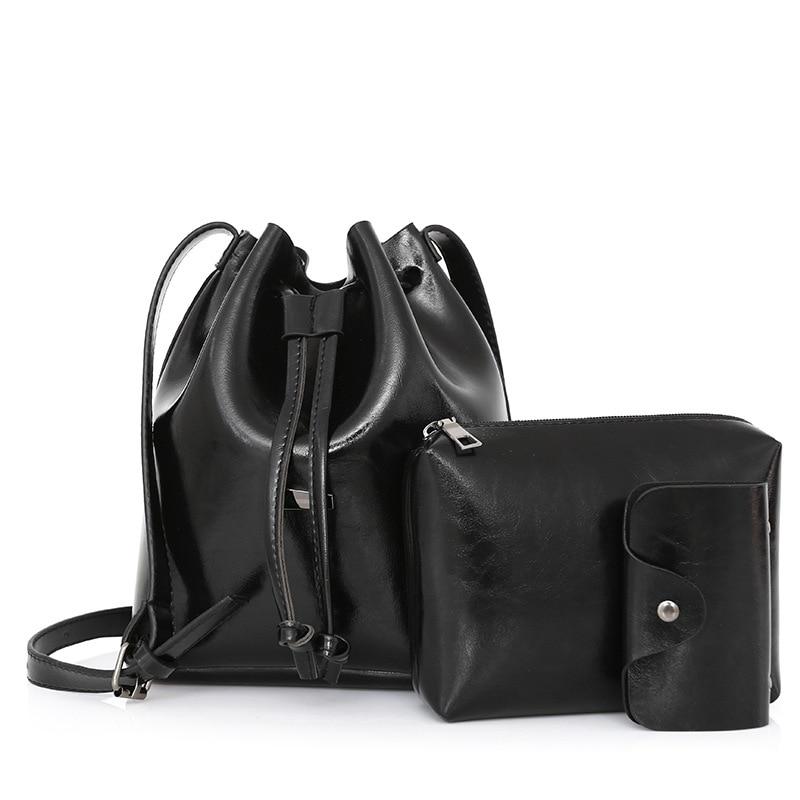 GDZHLbag Bucket Bag Women Leather Shoulder Bag Brand Desinger Ladies Crossbody Bags Womens Travel Bag Purse Womens Handbags