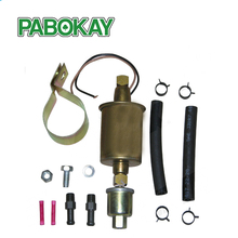 New Universal 5 9 PSI In Line External Electric Fuel Pump WITH INSTALLATION KIT GA8012S E8012S