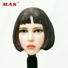 1:6 Scale Natalia Portman Short Hair Head Model Toy For 12 Woman Pale Skin Body 1 6 scale military figures 1 6 male body series asian skin tone mx02 b resin model body free shipping