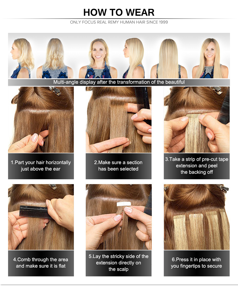 Professional hair extensions Originea Hair 18 to 24inch Machine Made Remy Tape in Human Hair Extensions invisible tape in hair extensions for hair salon