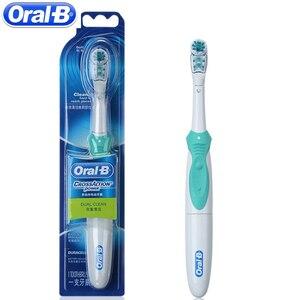 Image 3 - Oral b cruz ação escova de dentes elétrica branqueamento escova de dentes escova de dentes elétrica não recarregável alimentado por bateria