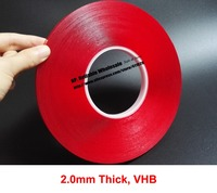 2 0mm Thick 10mm 40mm Wide Choose 16 Meters VHB Clear Foam Double Sided Adhesive Acrylic