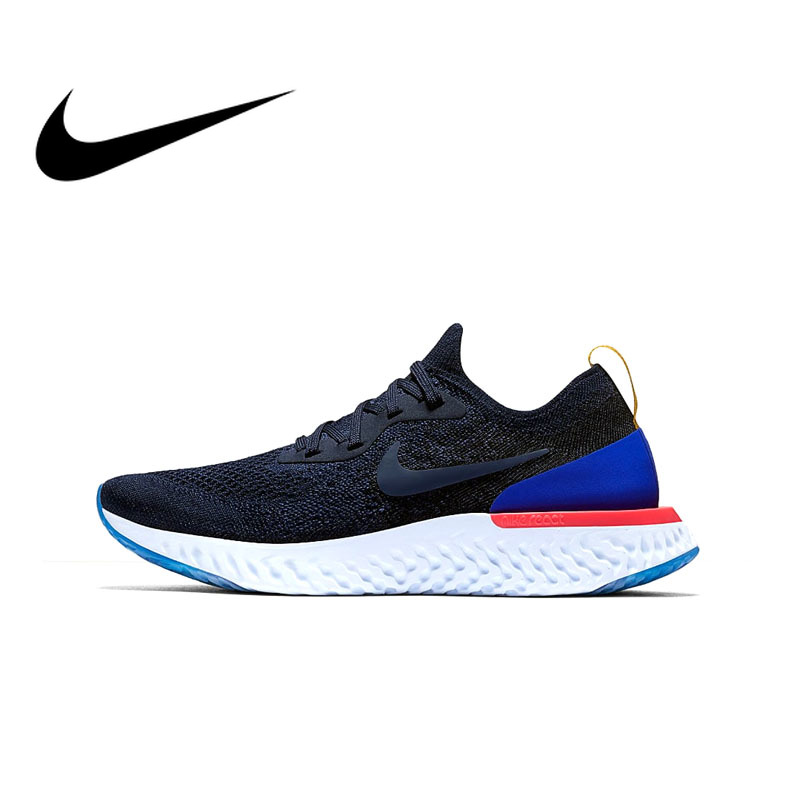 Original Authentic Nike Epic React Flyknit Womens Running Shoes Sneakers Sport Outdoor Breathable Medium Cut Comfortable AQ0070(China)