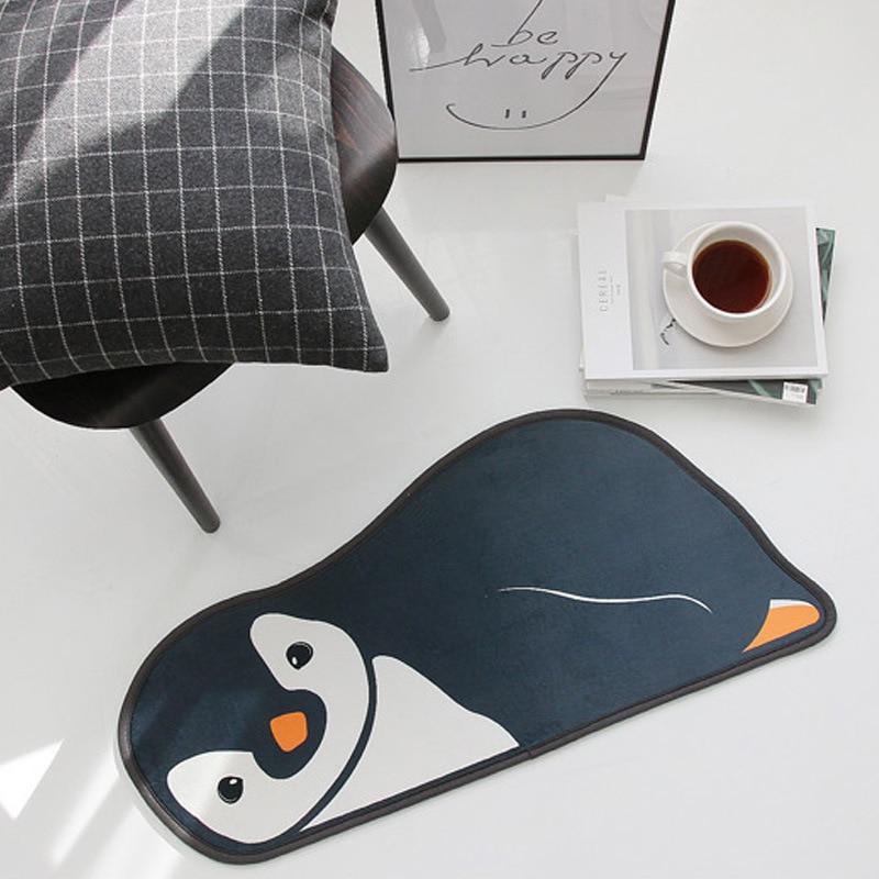 Cartoon penguin/Bear Print Carpet door mat door Kids Anti-slip Rug Lovely cartoon mat kitchen bathroom door entrance door Mat