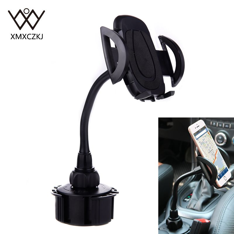 Universal Adjustable Car Phone Holder with Extended Cup Holders Mount Stand For  iPhone Samsung Huawei Mobile phone accessories  car pop socket holder