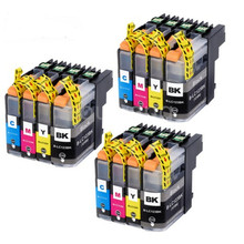 12PK  Compatible For LC123 Ink Cartridge MFC-J4510DW MFC-J4610DW Printer LC 123 MFC-J4410DW J4710DW