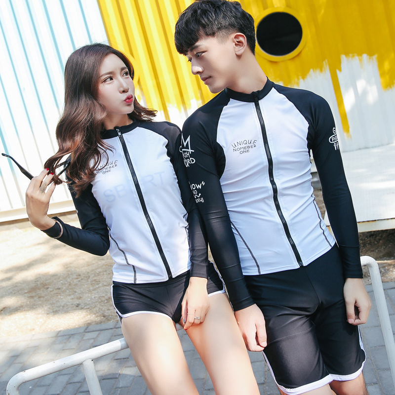 Sbart Style Lycra Swimwear Rash Guard Women Men Basic Skins Swimming Tees Tops Man Woman Long Sleeve Surfing T-Shirts+pants set